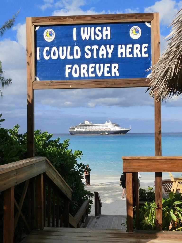 Half Moon Cay, Bounty stranden en zon!