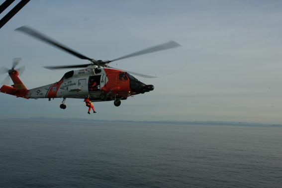 Op Zee, met een medische evacuatie
