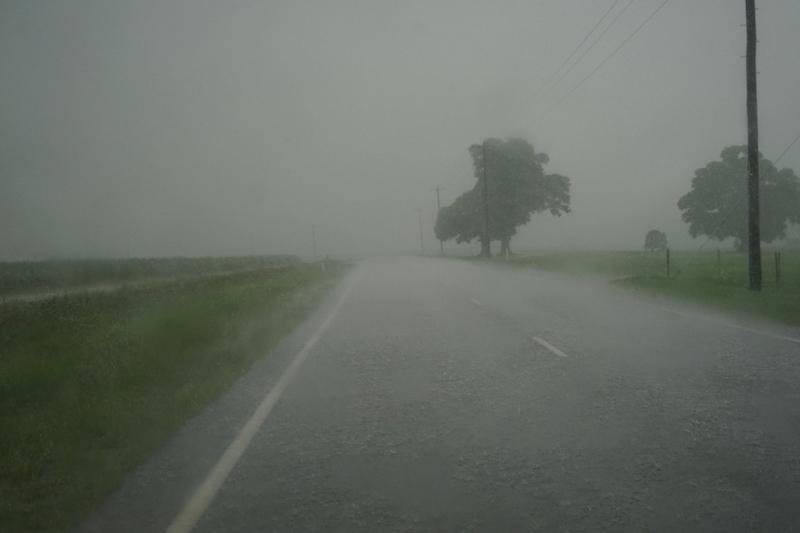 Mackay, Australië. Regen, regen en overal regen